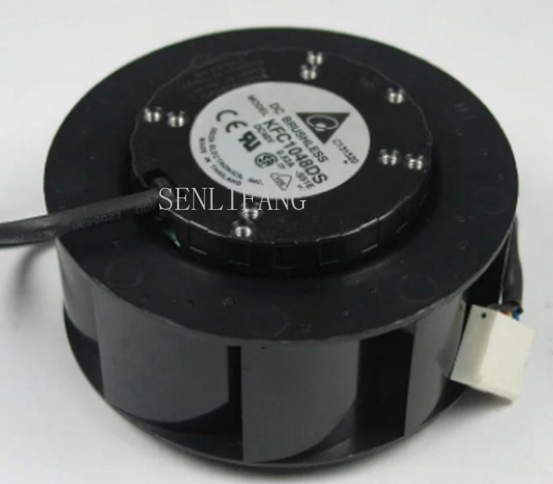 Free Shipping Original KFC1048DS 48V 0.52A 10 Cm 4 Wire PWM Centrifugal Disc Fan