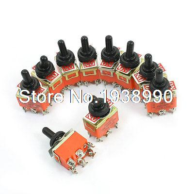 10Pcs 250V 25A DPDT Latching Rocker Type 3Position Toggle Switch w Rubber Cover айгнер м комбинаторная теория