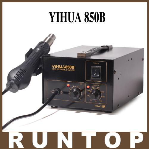 HOT YIHUA-850B 110V/220V Bulit-in Pump SMD SMT IC PCBA Rework Soldering Station Hot Air Gun Desoldering Tool