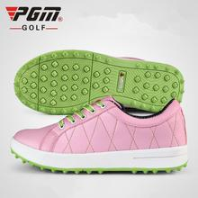 цена на PGM 2017 Women Golf Sneakers Female Golf Sports Shoes Without Spikes Breathable Waterproof Soft Golf Shoes