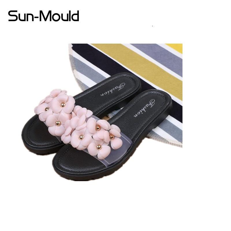 Hot Women Slippers Fashion Spring Summer Autumn flower Slippers Women Slides Flip Flops Flat Shoes sandals beach shoes