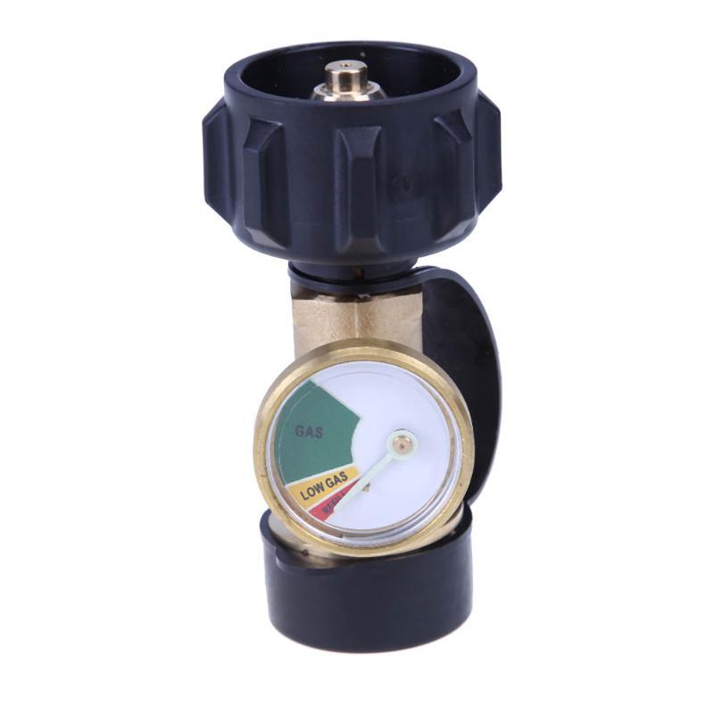 Universal Brass Tank Gauge Level Indicator Leak Detector Gas Pressure Meter Adapter for RV Camper Cylinder BBQ Gas Grill etc