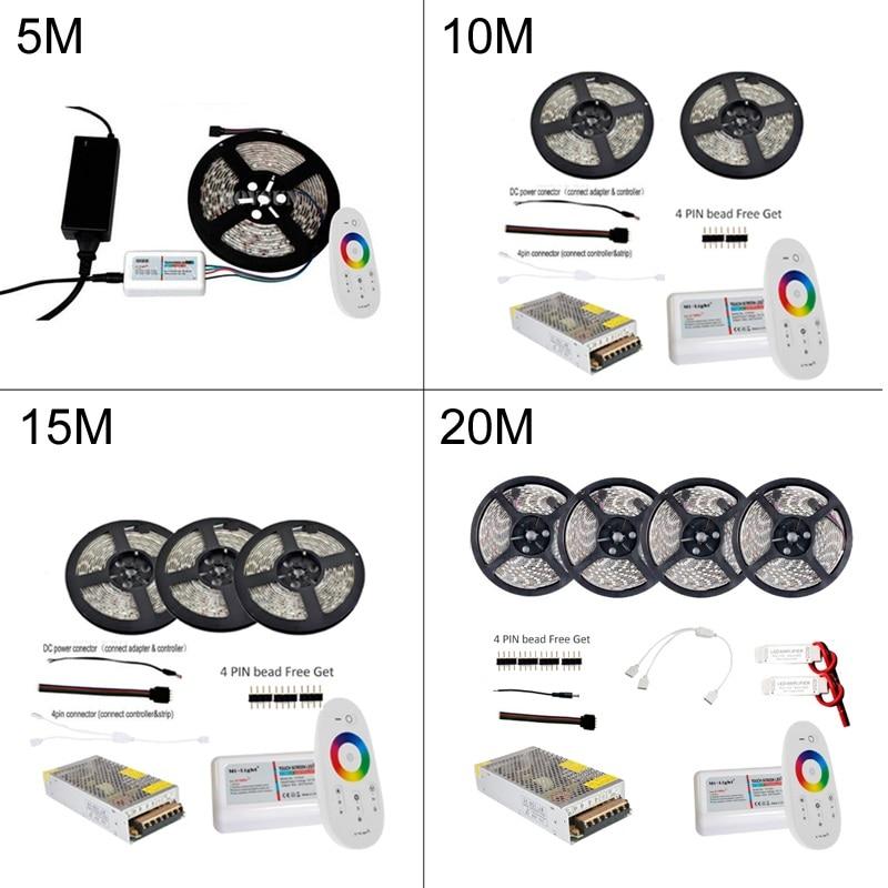 5M 10M 15M 20M Led Strip RGB Suya davamlı 5050 SMD 60 led / m Tape - LED işıqlandırma - Fotoqrafiya 2