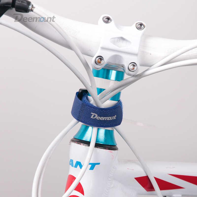 4 шт. Deemount велосипедный нейлоновый крючок/петля самоклеящаяся лента на ремешке велосипедная кабельная нить галстук-насос бутылка полоса Велоспорт мерцающий бандаж