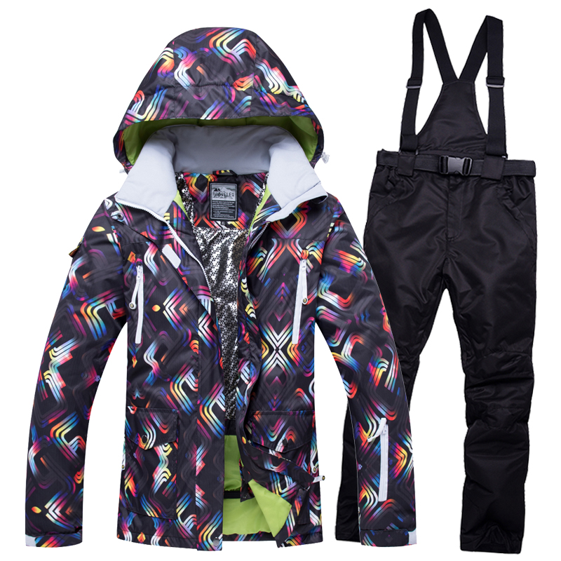 Ski Jacket And Pants Snow Warm Waterproof Windproof Skiing And Snowboarding Suits Winter Ski suit Women Brand 2018 High Quality 2018 new lover men and women windproof waterproof thermal male snow pants sets skiing and snowboarding ski suit men jackets