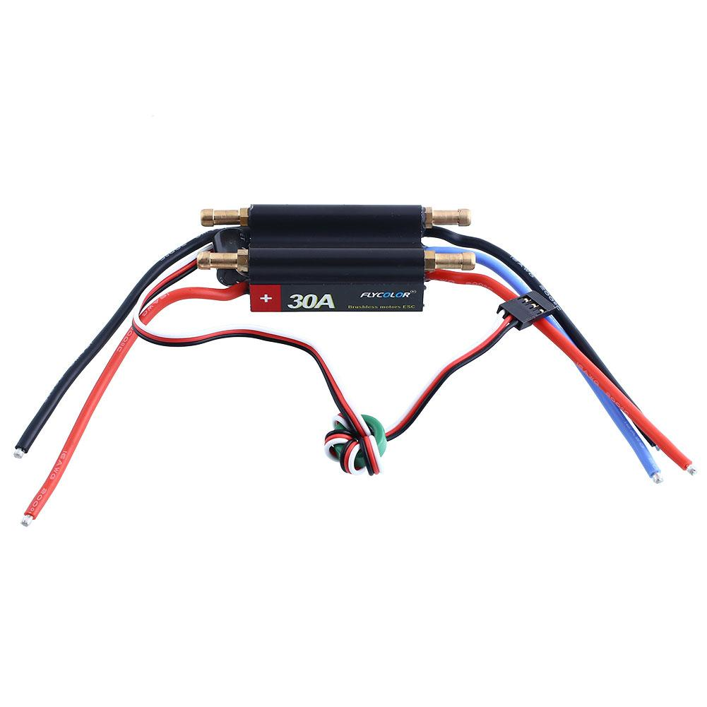 FlyColor 30A Water Cooling Brushless Motors Speed Controller ESC BEC For RC Boat flying 20a bec electronic speed controller for brushless motors esc