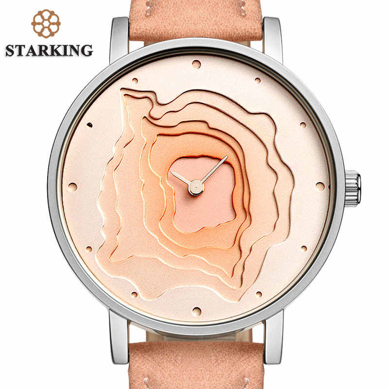 STARKING שעון TM0907 אופנה 3D רב שכבות חיוג נשים שעון ייחודי Creative שעון יד 2018 חדש Damske Hodinky נשים מתנות