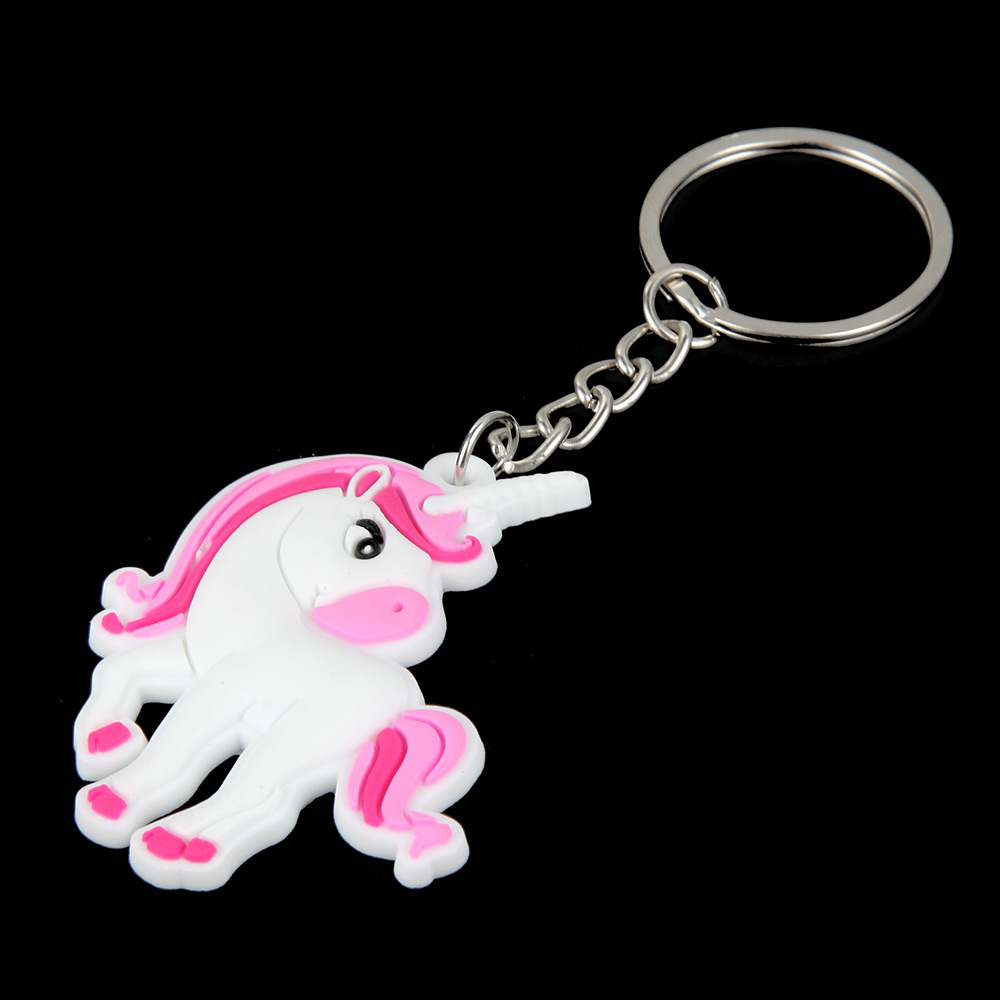 Cute-Fairytale-PVC-Unicorn-Keychain-Party-Favors-Multi-style-Horse-Key-Holder-for-Girls-Christmas-Gift (2)
