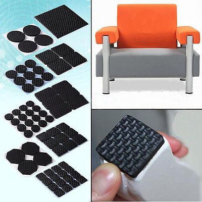 Adhesive Rubber Furniture Feet Floor Protector Pads Anti Skid Scratch Diy Resistant Mats Table Legs Stools Chairs Protection