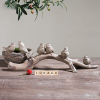 American Rural Creativiye Resin Birds branches antique Animal Figurines Decoration for Home Garden Gift Crafts