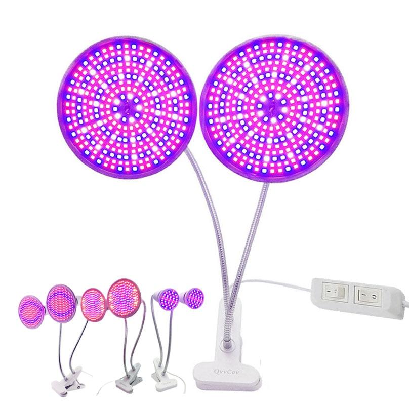 Dual 28 200 290 LED planta crecen luz espectro completo flor creciendo lámpara sostenedor Clip para sala interior siembra hidropónica invernadero