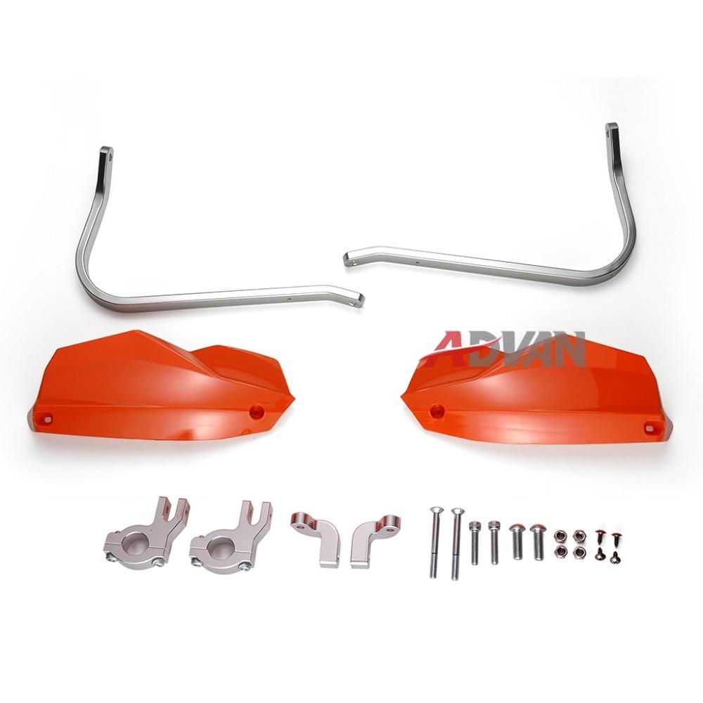 Orange Aluminium Handguards Brake Clutch Hand Guard For KTM 390 Duke 2013 2014 2015 7 822mm handlebar rubber hand grips brake hands brakes clutch lever for ktm 200 duke rc200 390 duke rc390 duke250 2014 2015