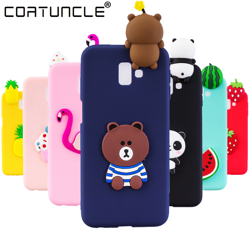 J6 Plus Case on For Coque Samsung Galaxy J6 Plus case Soft TPU Cover For Samsung Galaxy J 6 Plus Cartoon Dolls Toys Phone Cases