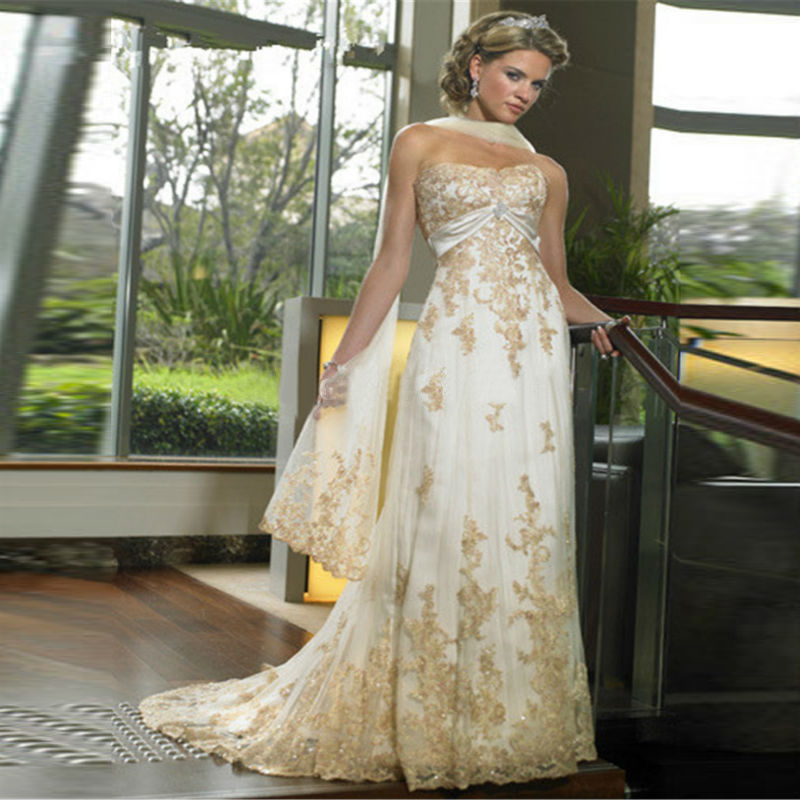 Ivory Wedding Gowns: Popular Gold Ivory Wedding Dresses-Buy Cheap Gold Ivory