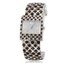 Hot 2016 Multi Color Luxury Ladies Bracelet Watch Women Rhinestone Watches Female Analog Wristwatches Dropshipping