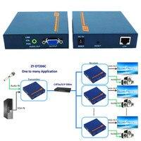 DT206C 660ft Network VGA Over IP Audio Splitter Extender By Ethernet Cat5e Cat6 Cable 1080P VGA