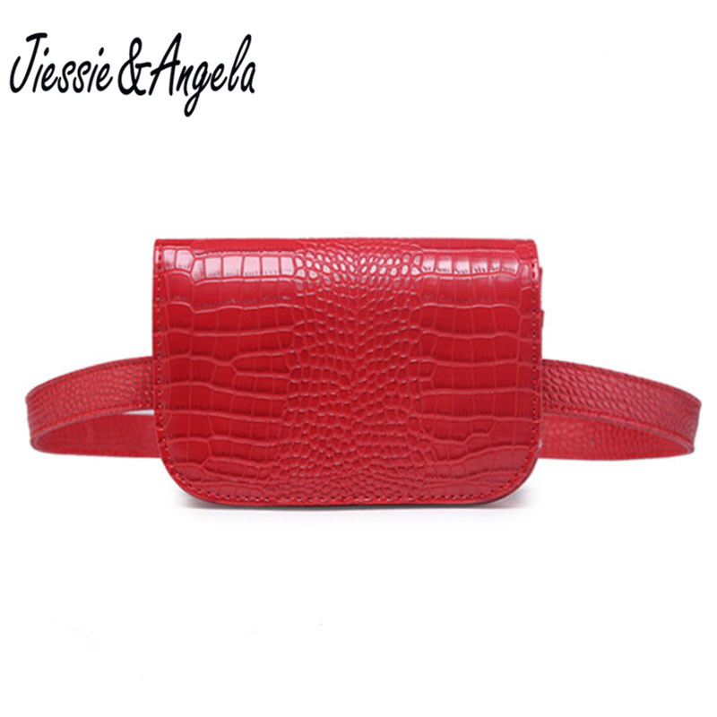 Jiessie & Angela New Fashion Leather Waist Bag Phone Belt Bags Waist Lady's Pouch Belt Waist Pack Travel Belt Wallets Bolosa цена