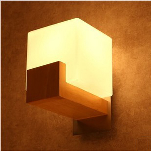 Free shipping Nordic European style brief bedroom brief balcony lights wood led wall lamp free shipping 251modern brief nordic european style new product resin cement pendant lamp
