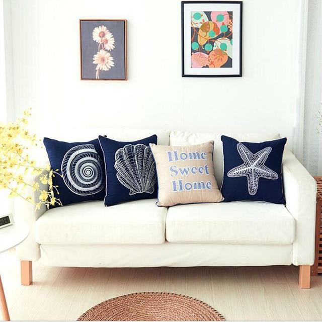 Cushion Cover Embroidery Throw Pillow Cover For Sofa Car Chair Cushion Case  Decorative 45x45cm(18