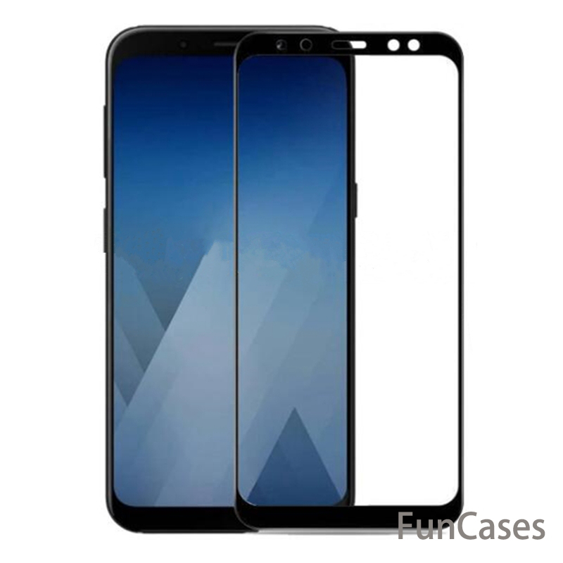 Screen Protector For Samsung Galaxy A8 2018 A530 Tempered Glass Samsung Galaxy A8+ A8 Plus 2018 A730 Screen Protector Full Cover