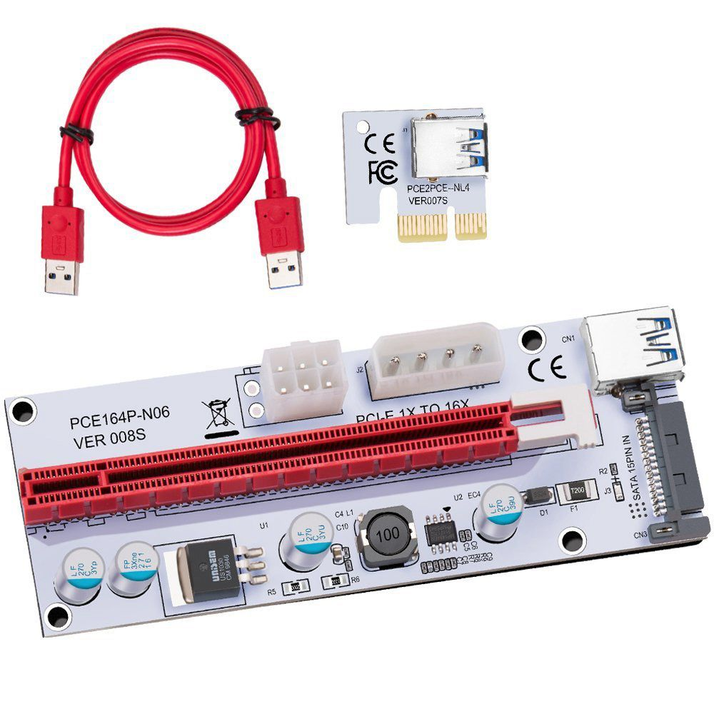USB 3.0 Pcie PCI-E Express 1X To 16X GPU Extender Riser Card Adapter new aad in card pcie 1 to 4 pci express