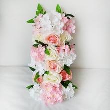 Artificial Flower Hydrangea Peony Rose Silk Flower Wedding Road Lead for Wedding Arch Square Pavilion Corners Decorative Flowers все цены