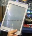 5 unids/lote alta calidad negro/blanco pantalla exterior frente lente de cristal para ipad mini 4 piezas de repuesto de reparación de piezas