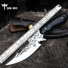 Voltron Outdoor portable tactical straight knife, self-defense sharp knife, hand forged wild survival knife survival knife