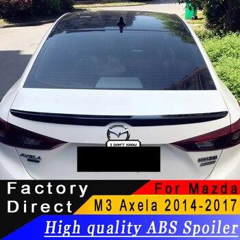 Pour Mazda 3 Axela matériau ABS de haute qualité becquet pour Mazda 3 M3 Axela 2014 à 2017 ans aileron apprêt ou toute couleur