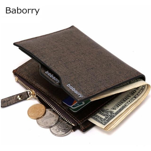 10 pcs Luxury Portfolio Designer Famous Brand Short Leather Men Wallet Card holder Coin Purse Pocket Carteras Money Walet Cuzdan