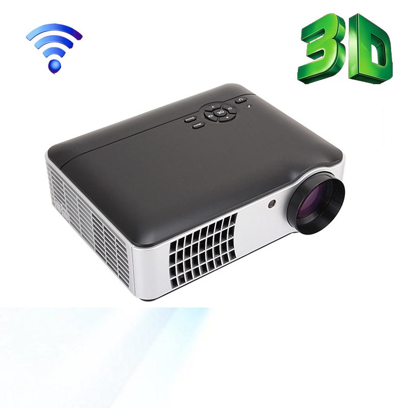 HD Movie Projector Android Wifi LCD LED Projector 1080P Home Theater Cinema HDMI USB AV VGA TV Video Games Built-in speakers