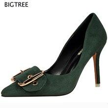 2017 bigtree женской моды весна обувь мелкой женской обуви на высоком каблуке женская обувь насосы 51 зых