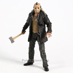 Image 5 - 2009 Deluxe Edition NECA Şekil Cuma 13th Jason Voorhees Action Figure PVC Korku Koleksiyon Model Oyuncak