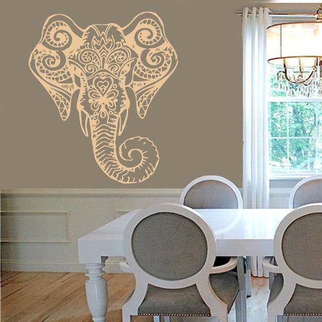 Elephant Mandala Buddha Wall Decal Sticker Indian Elephant Om