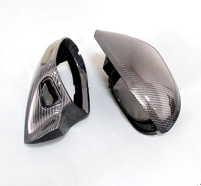 for Audi A6 S6 RS6 Carbon Fiber Mirror Cover Rear View 2012 2013 2014 2015 2016 2017 For Audi A6 C7 Carbon Without Side Assist