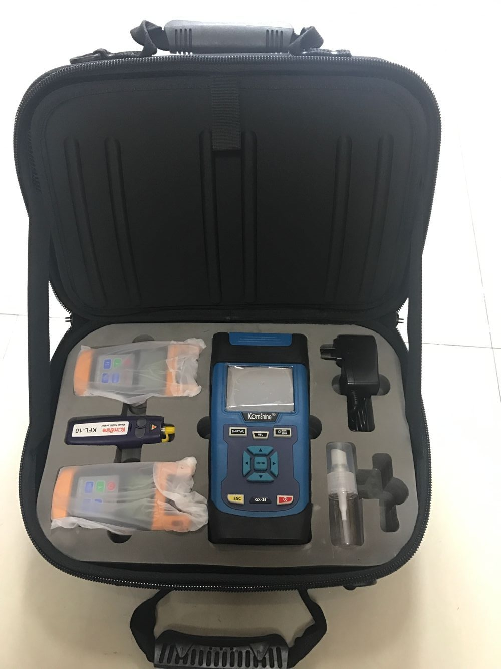 FTTH Tester Toolkit KomShine KQX-45 with QX45 OTDR 32/30dB /Optical Power Meter & Optical Light Source & VFLFTTH Tester Toolkit KomShine KQX-45 with QX45 OTDR 32/30dB /Optical Power Meter & Optical Light Source & VFL