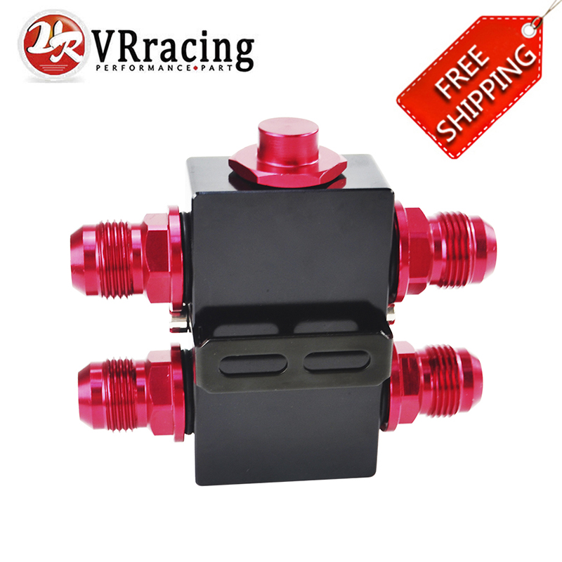 FREE SHIPPING Oil Filter Adaptor Sandwich With In-Line Oil Thermostat AN10 fitting VR5672BK