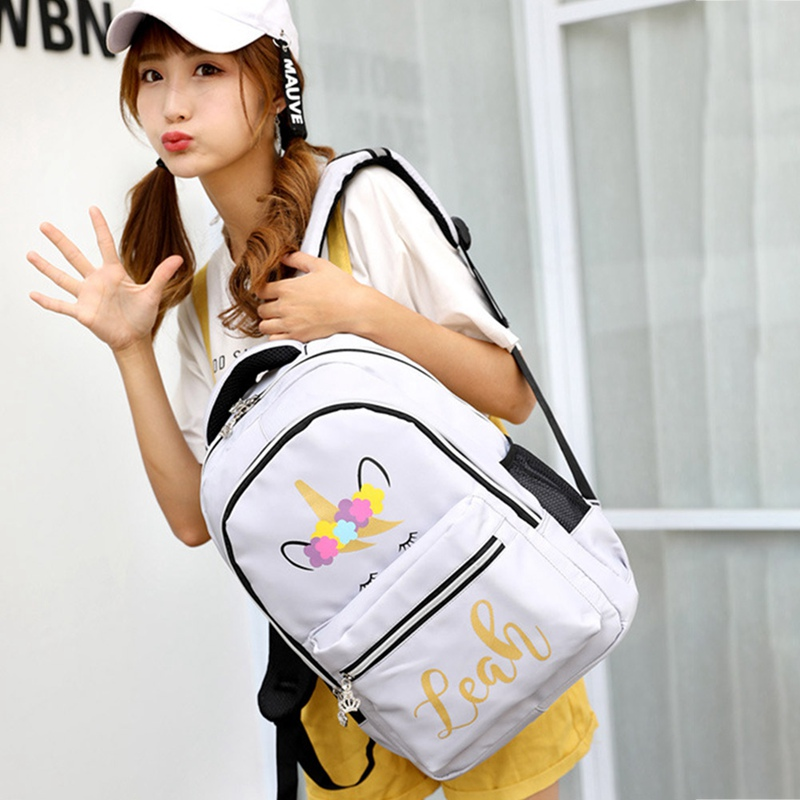 Multi Colour Unicorn Girls Backpack Fantasy Teenager School Bag Student Travel Backpack Drop Shipping цена