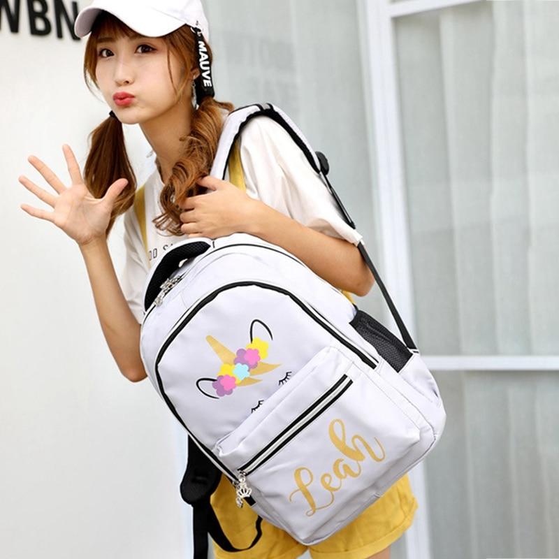 Multi Colour Unicorn Girls Backpack Fantasy Teenager School Bag Student Travel Backpack Drop Shipping bradex kz 0228