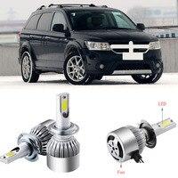 2pcs 9005/HB3 6500K Single Beam LED Headlights Fog Lamp Bulbs For Dodge Journey 2013