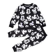 2016 baby girl boy clothing sets Autumn childrens Mickey boys tracksuits 100% cotton sweatshirts+trousers