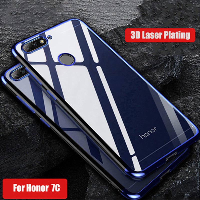 Soft-Case Bumper-Cover Clear Honor Silicone Luxury Transparent-Plating Huawei For 7C