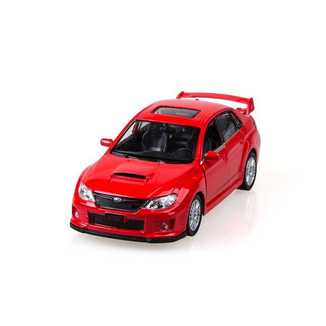 التراجع سيارة حمراء 136 امبريزا Wrx Sti سبائك نماذج دييكاست التراجع