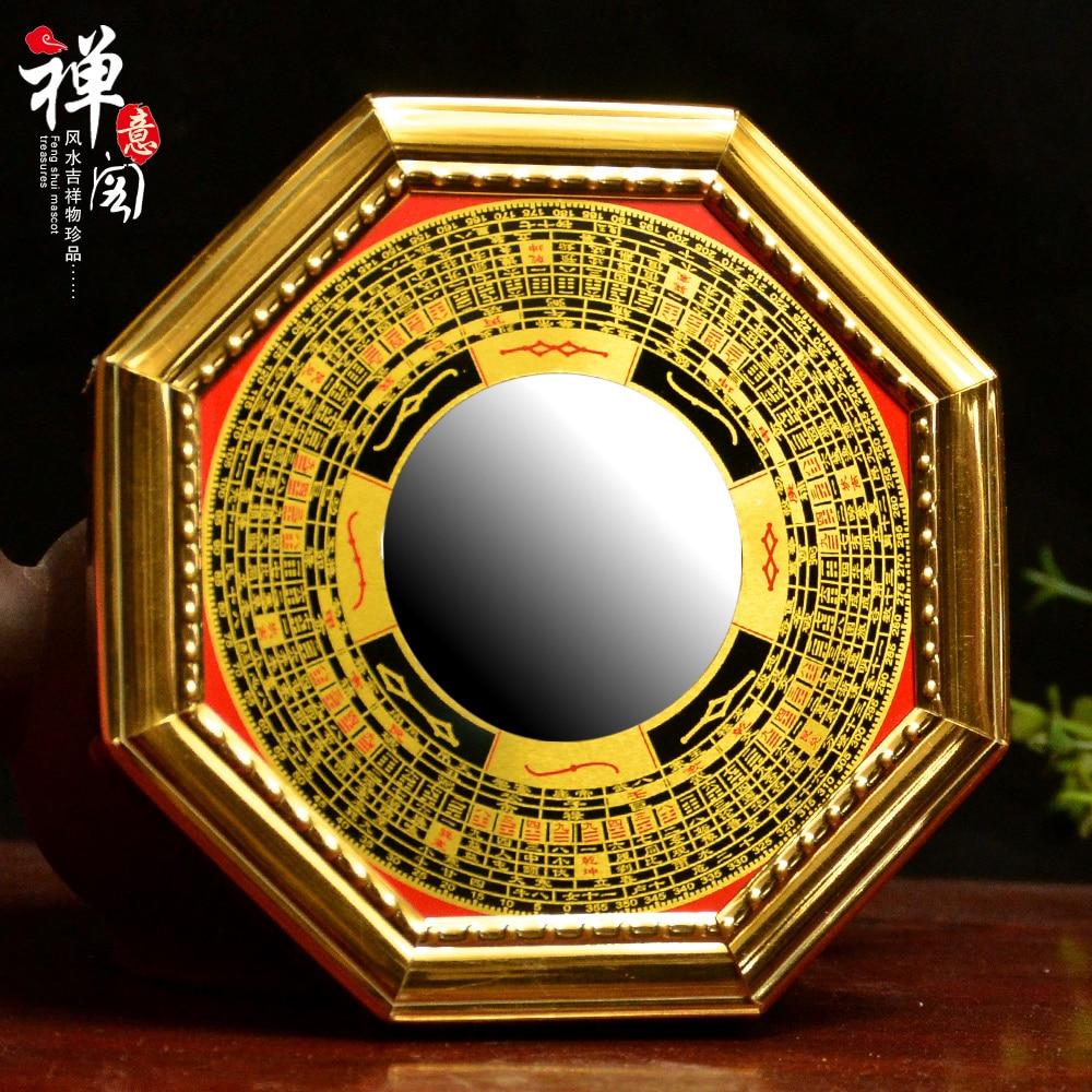 Kaiyun vak na poštu zrcadlo konvexní konkávní slitiny zlé feng shui zrcadlo zhaocai ozdoby tai chi yin a yang zrcadlo  t