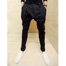 Free shipping 2014 hiphop jeans punk men's clothing harem pants taper middlelowlevel pants trousers costumes / L-XL