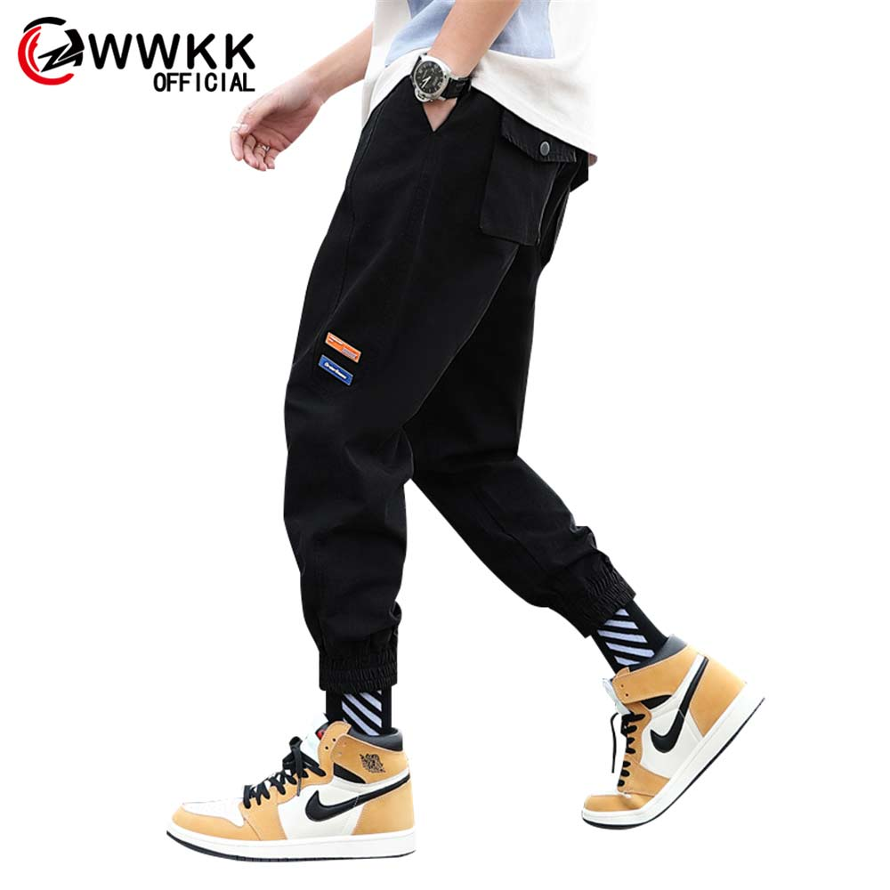 New Harajuku Sweatpant Wear Resistant Hip Trousers Many Pockets Stretch Flexible Man Breathable Casual New Jogging Trousers XXXL(China)