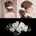 Bride Hair Accessory White Rose Hair Stick Fork Accessories Wedding  Maker Flowers