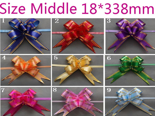 Size middle 18338mm pull bows ribbons flowers gift wrapping size middle 18338mm pull bows ribbons flowers gift wrapping christmas wedding party decoration pullbows mightylinksfo