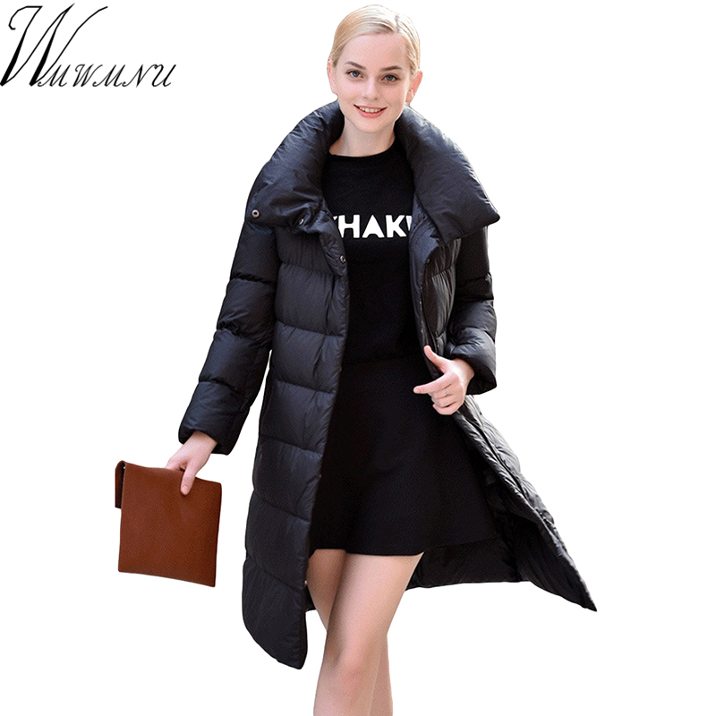 Wmwmnu 2017 New arrival womens winter down jackets and coats women High Quality Warm Female thick Warm Parka casual Over Coat