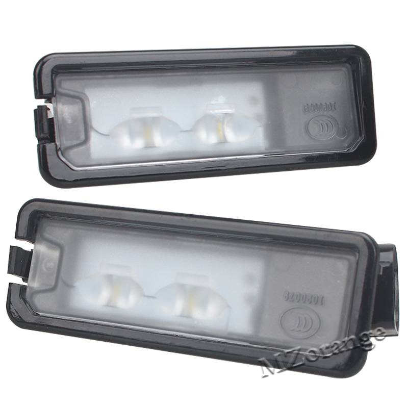 2Pcs For VW Passat B7 CC Golf 7 LED License Plate Light Number Plate Lamp 35D 943 021 A 35D 943 021A climatronic air condition control switch panel ac seat heater for passat b7 cc 35d 907 044 b c d 35d907044b c d